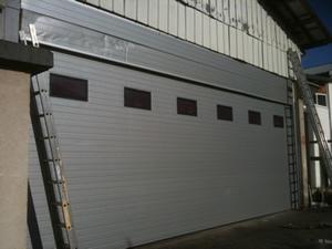 Porte de garage sectionnelle motoris e porte sectionnelle - Porte de garage sectionnelle industrielle ...